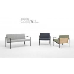 Sofá de 2 plazas tapizado R